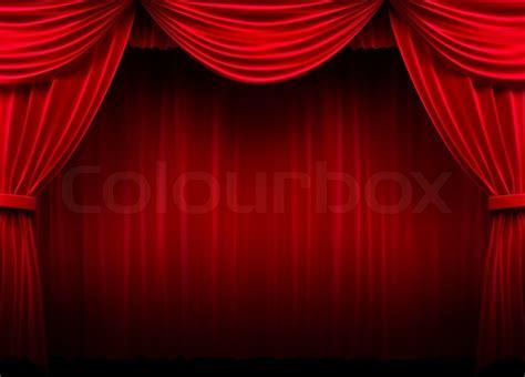 roter vorhang roter vorhang stockfoto colourbox
