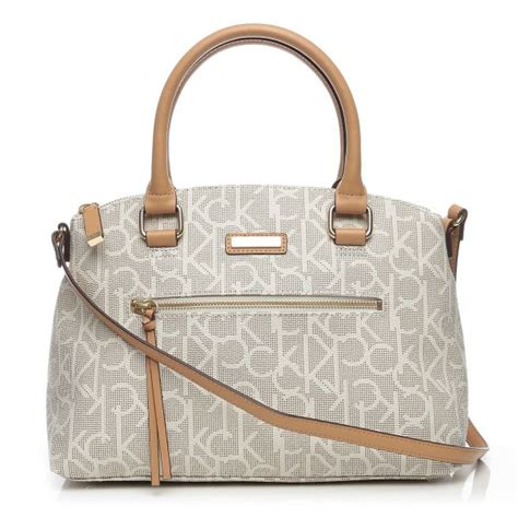 buy calvin klein hadjug key item monogram satchel bag
