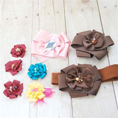 Handmade Ribbon Flower Tutorial - diy satin ribbon flower tutorial allfreeholidaycrafts