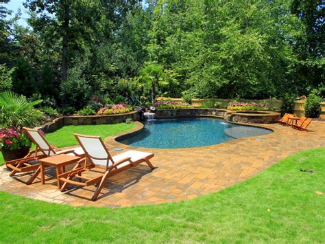 patio and pool in ground vs above ground pools hgtv