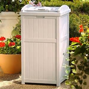 Patio Trash Cans Outdoor by Outdoor Trash Hideaway Garbage Container