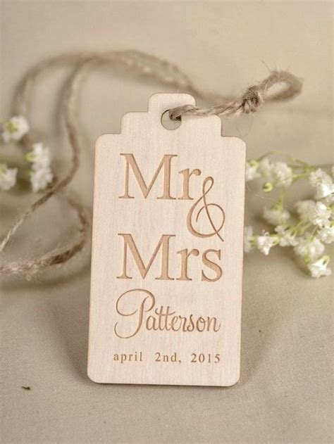 Wedding Favors Tags by Custom Listing 20 Custom Wooden Thank You Tag