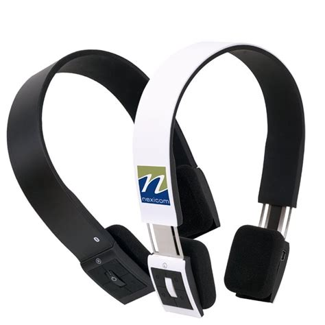 Wireless music and calls with custom logo bluetooth headset