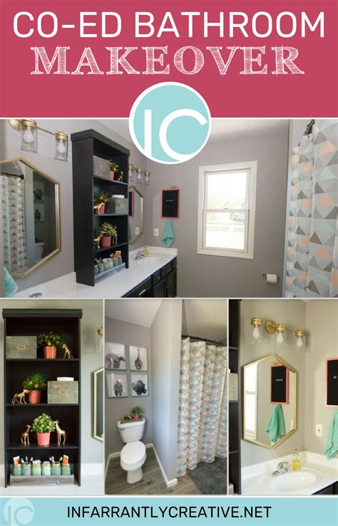 co ed bathroom co ed shared space bathroom makeover infarrantly creative