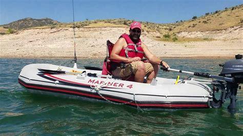 mariner 4 boat intex mariner 4 with yamaha 2 5hp motor youtube