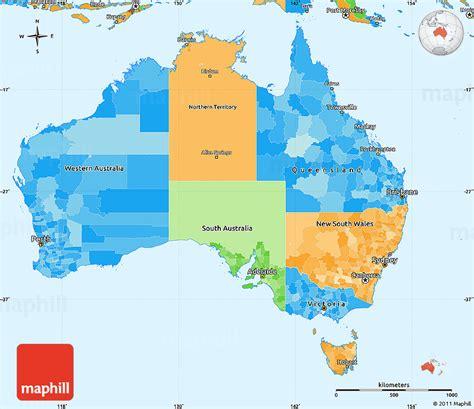 simple map of australia political simple map of australia