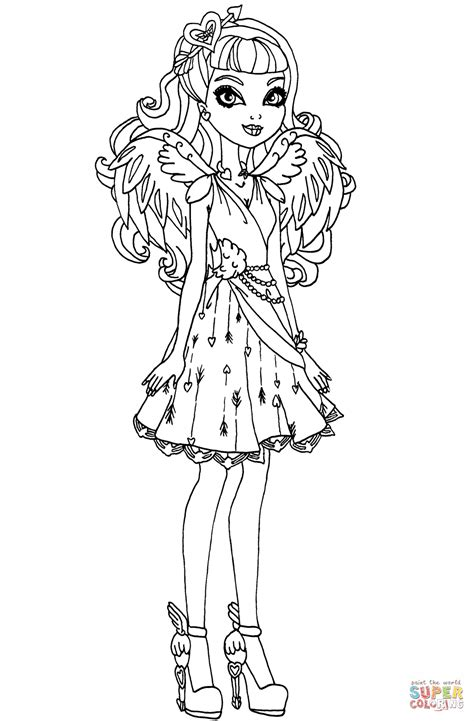 ever after high coloring pages ashlynn ella ever after high cupid ever after high coloring page free