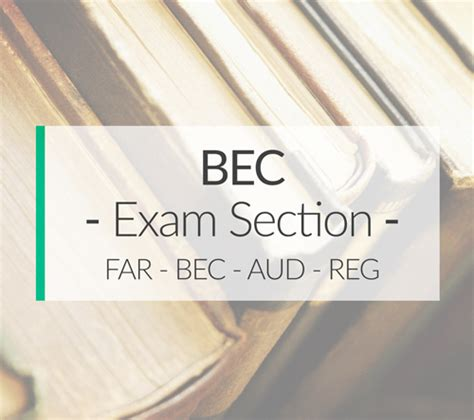 bec section of cpa bec cpa exam section ais cpa review courses