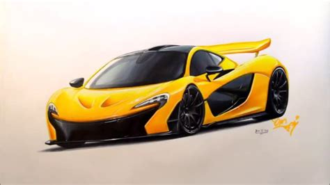mclaren drawing mclaren p1 drawing and rendring