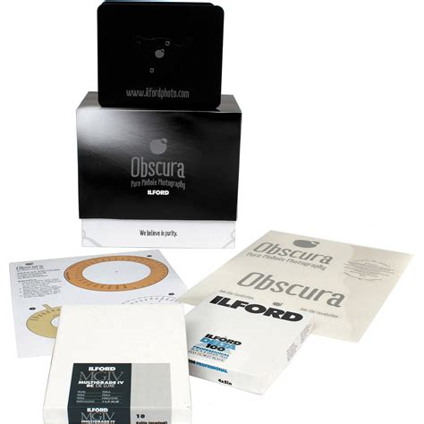 pinhole kit ilford obscura pinhole kit 1174029 b h photo