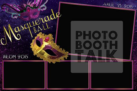 Masquerade Ball By Ci Creative Photo Booth Talk 4x6 Photo Booth Templates