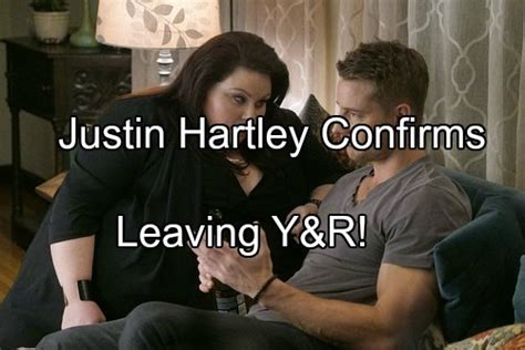 whos leaving young and the restless 2016 the young and the restless spoilers justin hartley