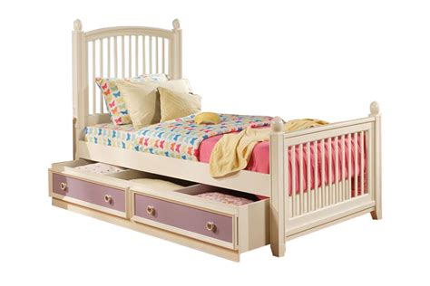 twin trundle bed with storage jenny twin bed with trundle storage at gardner white