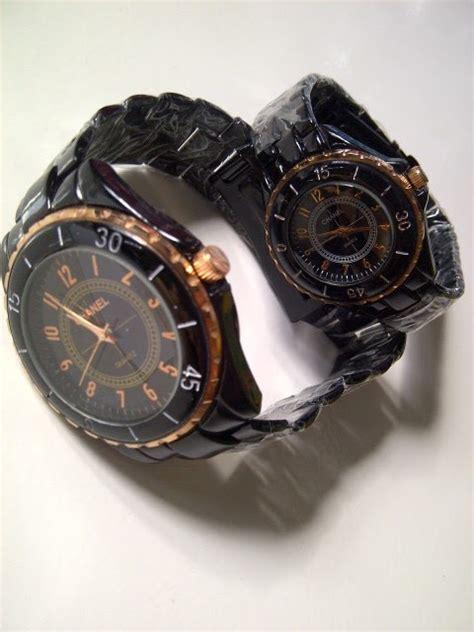 Harga Jam Tangan Merk Chanel jam tangan chanel pasangan hitam gold pusat