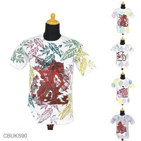 Kaos Motif kaos batik motif stemple wayang kaos murah batikunik