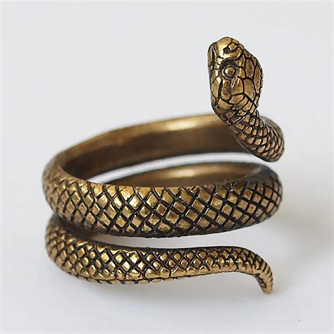 brass jewelry snake ring snake jewelry snake rings snakes size 55 ring