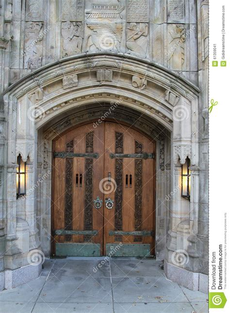 Yale Front Doors A Door Entrance Yale Stock Image Image 61359041