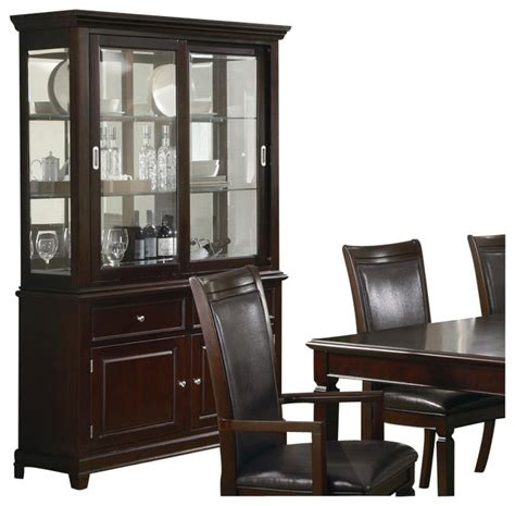 Jessica Mcclintock Dining Room Furniture by Coaster Ramona Formal Dining Room China Cabinet In Walnut