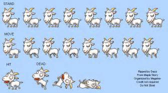 spriters resource sheet maplestory goat