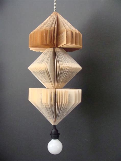 Upcycled Light Fixtures Pendant Lighting Fixture Upcycled Vintage Books