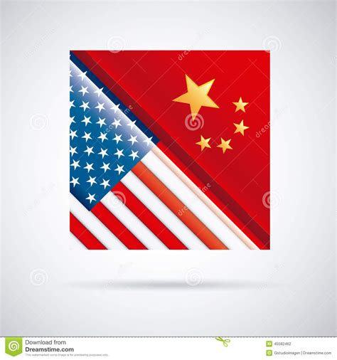 graphic design usa china and usa design stock vector image of nation travel