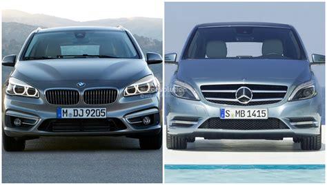 photo comparison bmw 2 series active tourer vs mercedes b