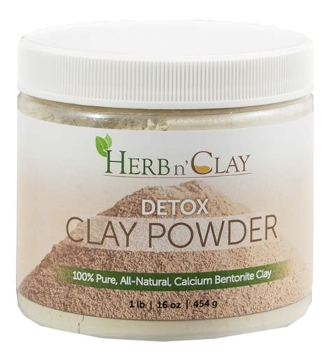 How To Detox With Bentonite Clay Powder by Calcium Bentonite Clay Detox Clay Powder Herb N Clay