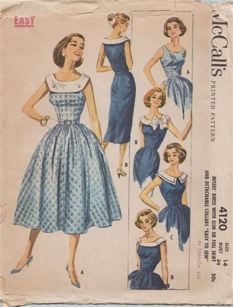die 50er mode die besten 17 ideen zu vintage schnittmuster auf