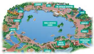 Epcot World Showcase Map by Epcot Map World Showcase In Epcot