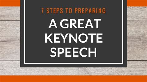 7 Tips To Prepare For A by 7 Steps To Preparing A Great Keynote Speech Visualhackers