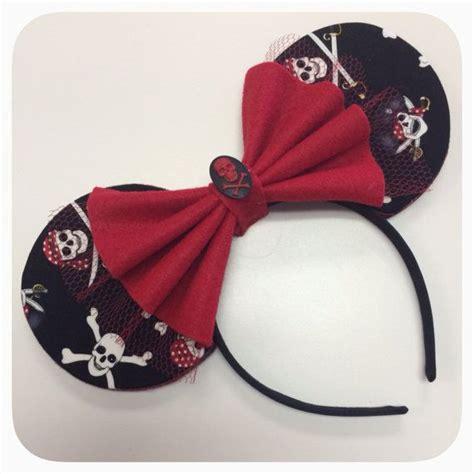 Handmade Minnie Mouse Ears - a pirate s custom minnie ears by shesallears on etsy