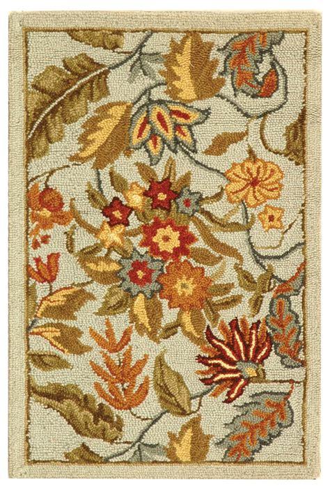 country hooked rugs safavieh hk141d chelsea country floral hooked wool rug sfv hk141d