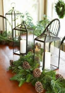 Decoration pine cones christmas table holiday decor lanterns