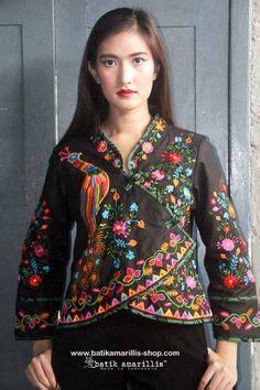 Blouse Nilla Songket 30 model baju batik terbaru untuk wanita modis modern 2017 model baju batik