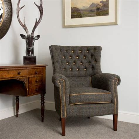 tweed arm chair harris tweed armchair tweed armchair curiosity interiors