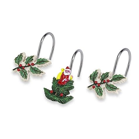 spode christmas tree shower curtain spode 174 christmas tree shower curtain hooks set of 12