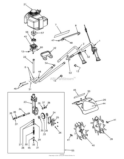 mantis tiller parts diagram bunton bobcat 7262 4 cycle gas tiller parts diagram