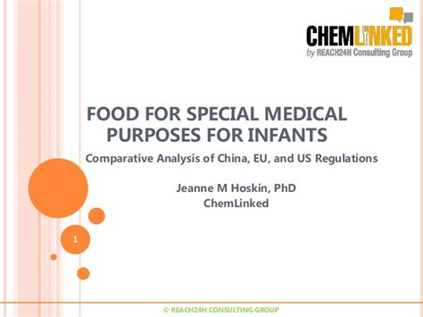 For Special Purposes comparative analysis of food for special purpose