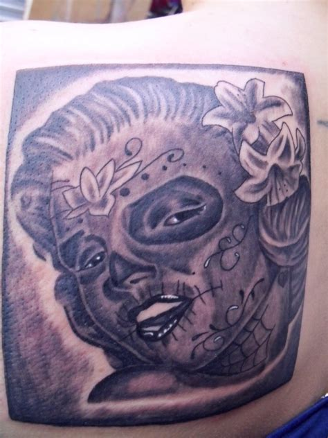 marilyn monroe day of the dead tattoo ideas by tamara currin