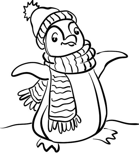 penguin coloring page free printable free printable penguin coloring pages for kids