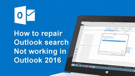 Office 365 Outlook Search Not Working How To Repair Outlook Search Not Working In Outlook 2016