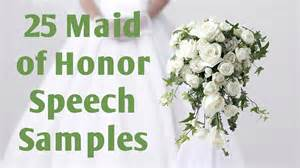 of honor speech templates of honor speech sles