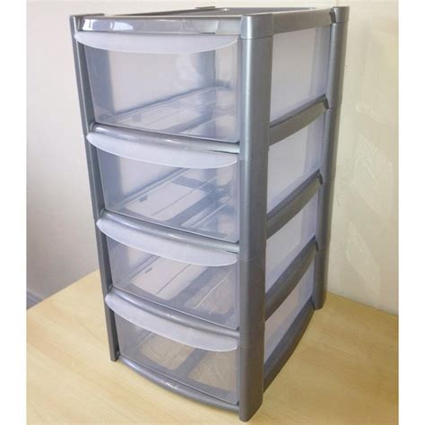 Plastic Storage Box Drawers by 4 Tier A5 Plastic Drawer Unit For A5 Paper
