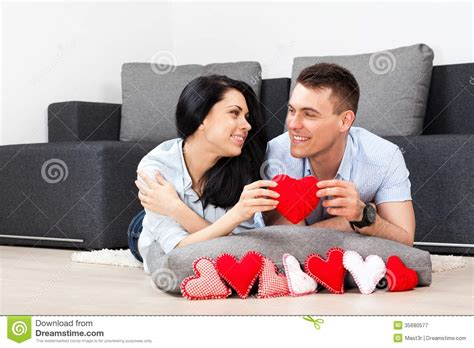 young couple room young couple living room royalty free stock photography image 35680577
