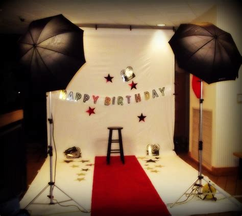 hollywood theme party dress ideas female hollywood theme birthday photo shoot setup fabulous