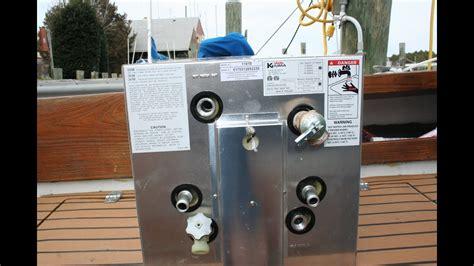 boat hot water heater hot water heater by kuuma camco youtube
