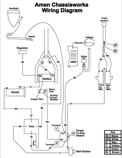 wiring diagrams club chopper forums