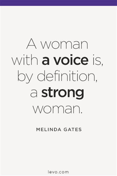 what does a woman of 61do a woman with a voice is by definition