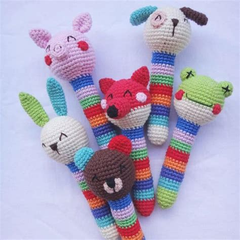 free crochet pattern amigurumi animals crochet animal baby rattles patterns amigurumi today