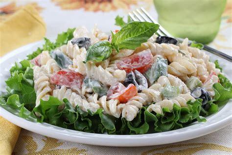 creamy pasta salad favehealthyrecipes com creamy italian pasta salad mrfood com